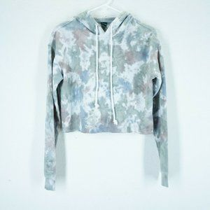 WILD FABLE Womens Size XS Tie Dye Cropped Hoodie